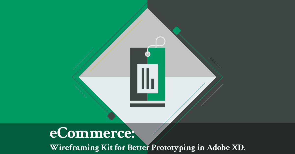 eCommerce: Wireframing Kit for Prototyping in Adobe XD